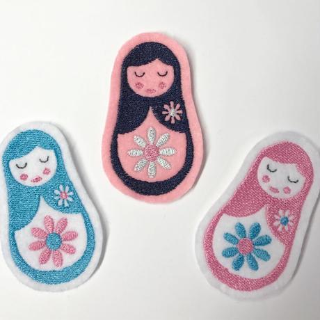 マトリョーシカ*刺繍ワッペン*