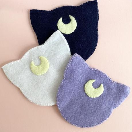 コースター3匹セット【Moon cats】