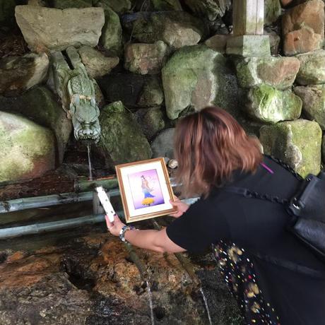 ミニ色紙 白山神社⛩御神水アート 覚醒