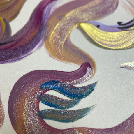 虹の輪龍神 NO.  2        小色紙21㎝✖️18㎝