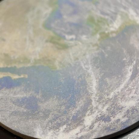 🔵Earthと月の水の惑星ブレス マカバスターゴールドプレート付