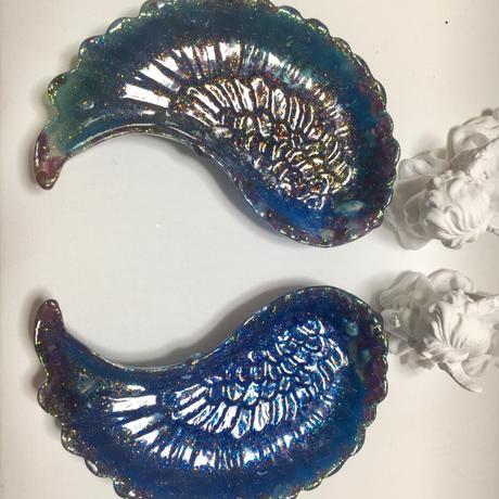 天使の羽器  左羽   ガーネットブルー
