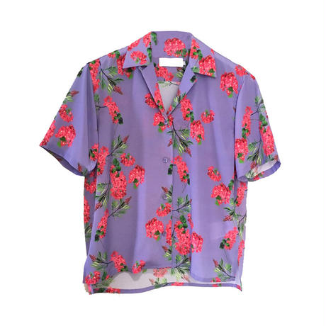 Graphpaper Flower Printed Open Collar Shirt