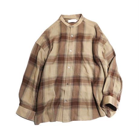 Graphpaper Check Women's Band Collar Big Sleeve Shirt