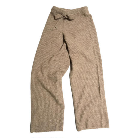1 001 KNITTED RIB TROUSER