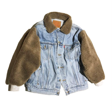 Kidole. BOA SLEEVES DENIM BLOUSON