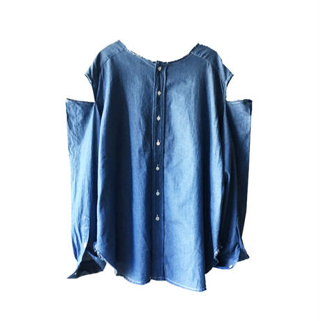 Kidole. CHAMBRAY SLIT SHIRT