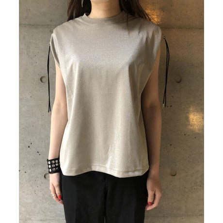 JHON LAWRENCE SULLIVAN GATHERED SLEEVELESS TOP