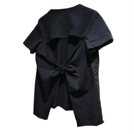 Kidole.  BACK RIBBON TEE (EYELET)