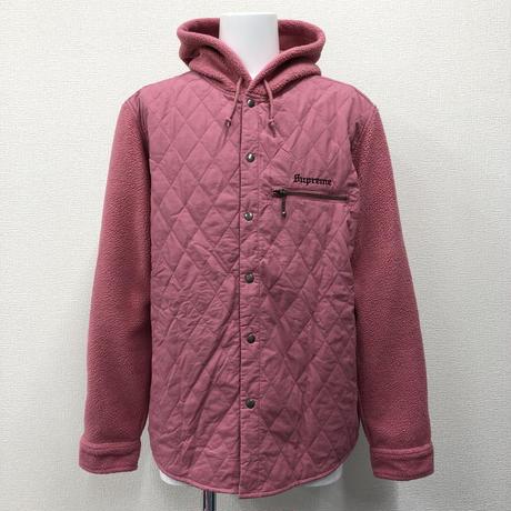 Used Supreme Hooded Fleece Nylon Shirt