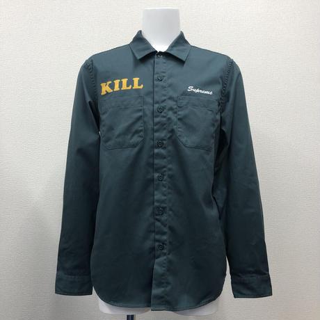 Used Supreme Kill Work Shirt