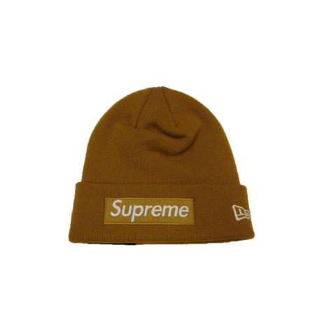 Spreme New Era Box Logo Beanie (Mustard)