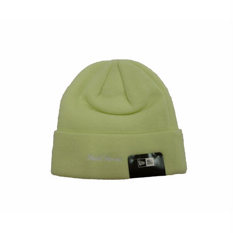 Supreme New Era® Box Logo Beanie (Pale Lime)