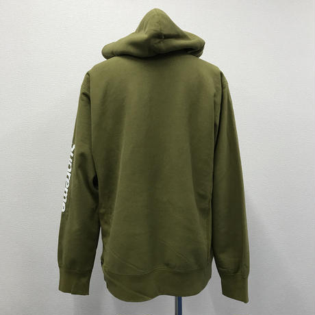 Used Supreme Sleeve Patch Hooded Sweatshirt