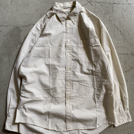 Old Gap check  shirt. L