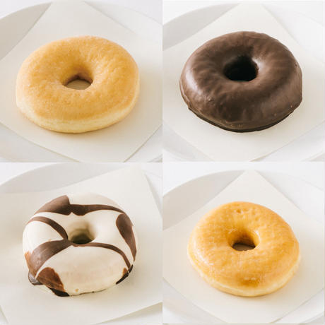 バラエティドッツ4個セット(シュガー、チョコレート、グレイズド、ホワイトチョコレート)