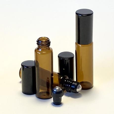 5ml ロールオンボトル(アンバーガラス) 5個セット