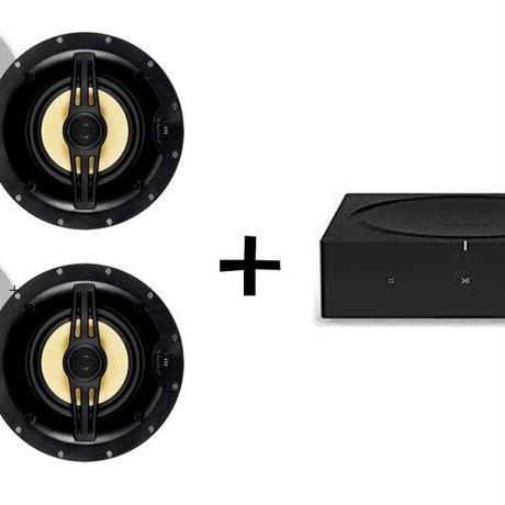 SONOS AMP + 埋込みスピーカー2個セット