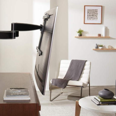 90インチまで対応 SANUS 壁掛けテレビ フルモーションマウント金具