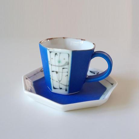 面取りコーヒーカップ/ソーサー