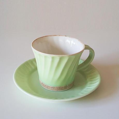 縞コーヒーカップ/ソーサー