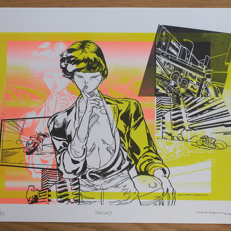Risograph Print  08Reiko(リソグラフ08レイコ)