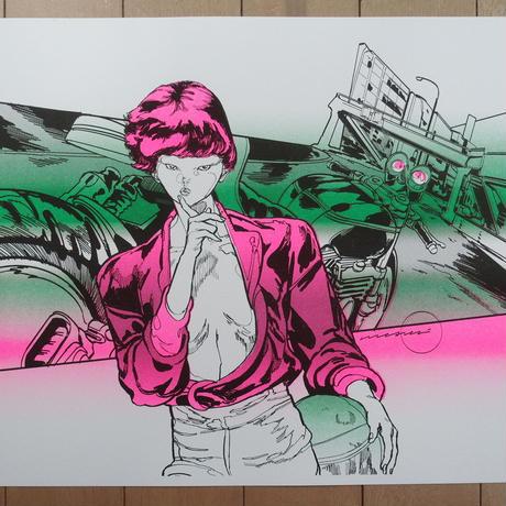 Risograph Print  02Reiko(リソグラフ02レイコ)