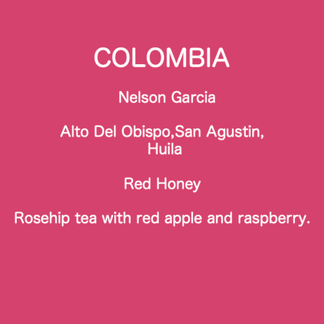 COLOMBIA  Nelson Garcia  Tabi Red Honey /  250g