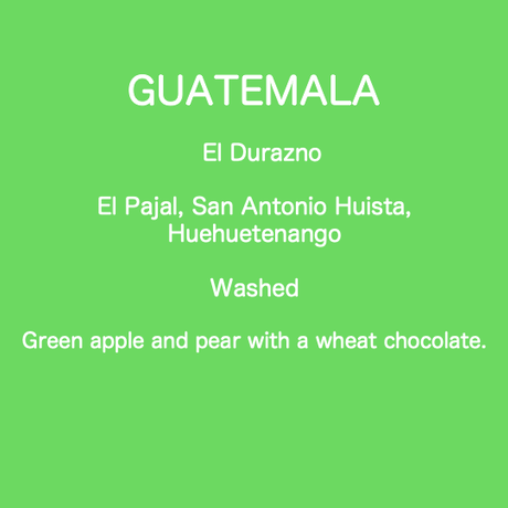 GUATEMALA El Durazno Washed  / 250g