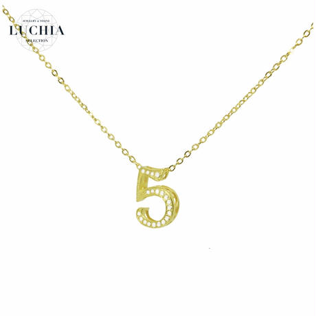 luxury series number necklace  No.5