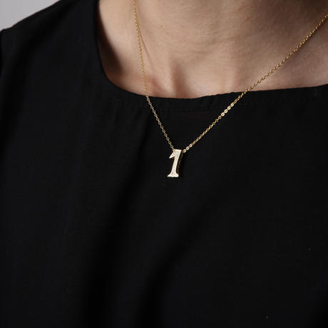 luxury series number necklace  No.6