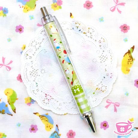 小鳥とりんごのスイーツボールペン♡グリーン
