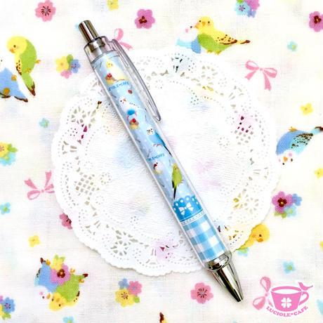 小鳥とケーキのスイーツボールペン♡ブルー