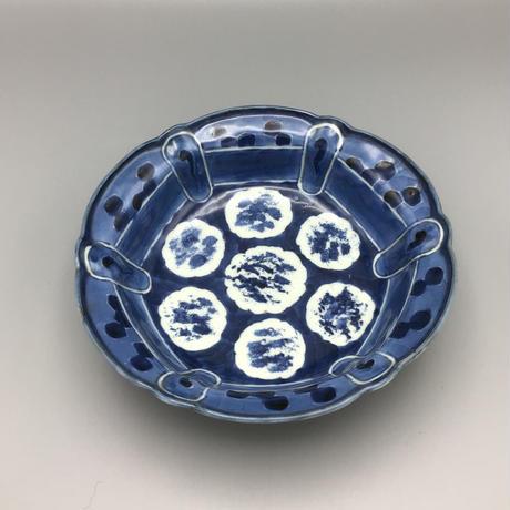 古伊万里 亀甲雪輪紋鉢