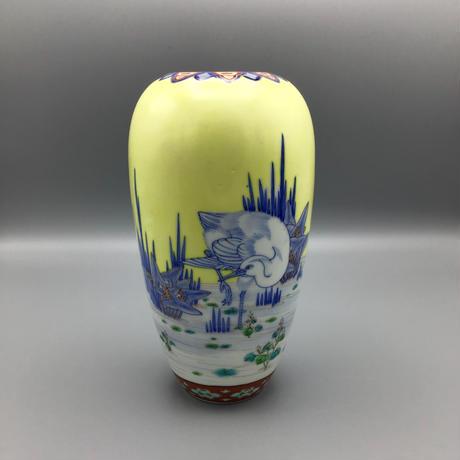 オールド香蘭社 白鷺図花瓶