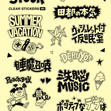 CLEAR STICKERS #01