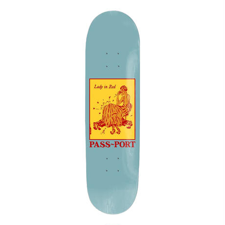 """PASS~PORT【 パスポート】""""LADY IN RED"""" POZTER SERIES DECK デッキ 板 8インチ"""