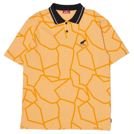 HELLRAZOR【 ヘルレイザー】DINO PIQUE POLO SHIRT ORANGE  ポロシャツ オレンジ