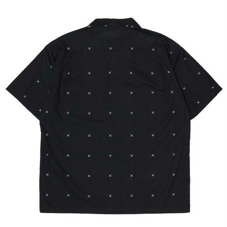 HELLRAZOR【 ヘルレイザー】SHURIKEN SHIRT BLACK  半袖シャツ ブラック