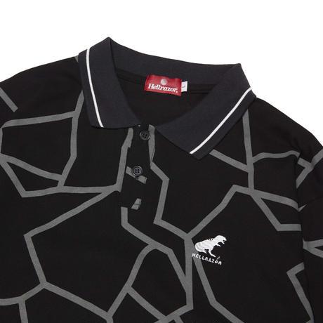 HELLRAZOR【 ヘルレイザー】DINO PIQUE POLO SHIRT BLACK  ポロシャツ ブラック