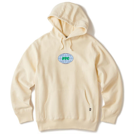 FTC【 エフティーシー】GLOBAL LOGO PULLOVER HOODY CREAM パーカー クリーム