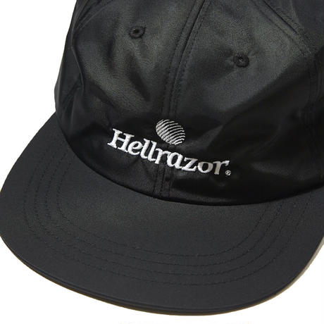 HELLRAZOR【 ヘルレイザー】TRADEMARK LOGO NYLON 6PANEL BLACK キャップ ブラック
