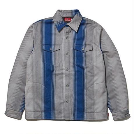 HELLRAZOR【 ヘルレイザー】STRIPE FLANNEL SHIRT JACKET シャツ ジャケット ブルー