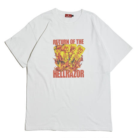 HELLRAZOR【 ヘルレイザー】 RETURN OF THE HELLRAZOR SHIRT - WHITE  Tシャツ ホワイト