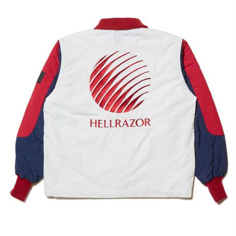 HELLRAZOR【 ヘルレイザー】x  FILA RUFF RIDE JACKET WHITE ホワイト