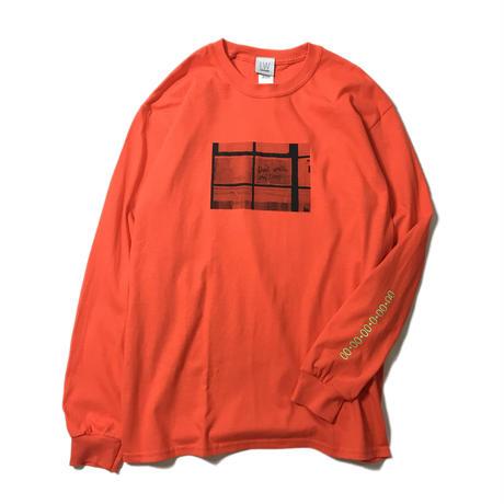 LUCKYWOOD【 ラッキーウッド】 TIME L/S TEE DEAD ロンT オレンジ