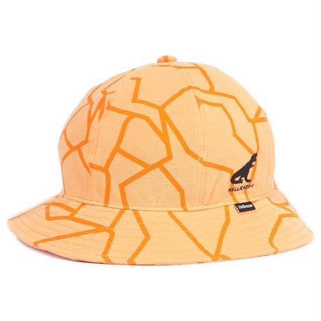 HELLRAZOR【 ヘルレイザー】DINO PIQUE BELL HAT ORANGE ハット オレンジ