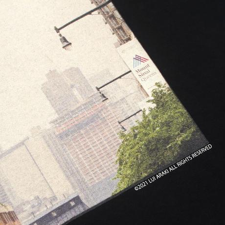 "HELLRAZOR【 ヘルレイザー】HELLRAZOR x LUI ARAKI PHOTO SHIRT ""TRAFFIC"" BLACK Tシャツ ブラック"