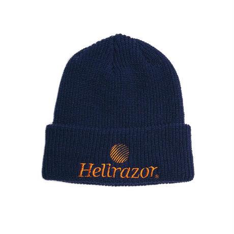HELLRAZOR【 ヘルレイザー】TRADEMARK LOGO WATCH CAP  ワッチキャップ 帽子 ネイビー