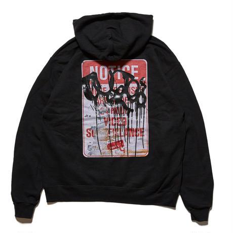 HELLRAZOR【 ヘルレイザー】 X RUSTO SURVEILLANCE HOODIE BLACK フーディ ブラック